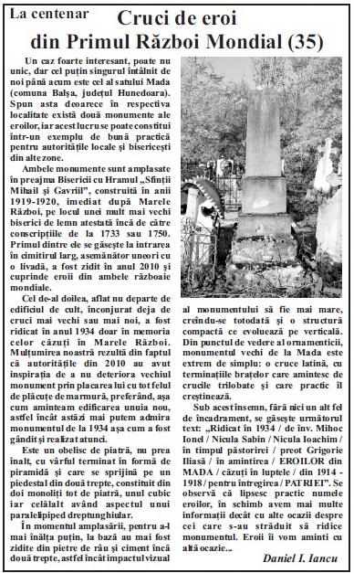 La centenar 35, in Palia expres, XXII, 39 (894), 26 oct.-1 nov. 2017, p. 6