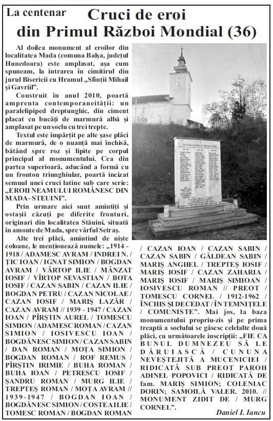 La centenar 36, Palia expres, an XXII, nr. 40, 895, 2-8 noiembrie 2017, p. 3